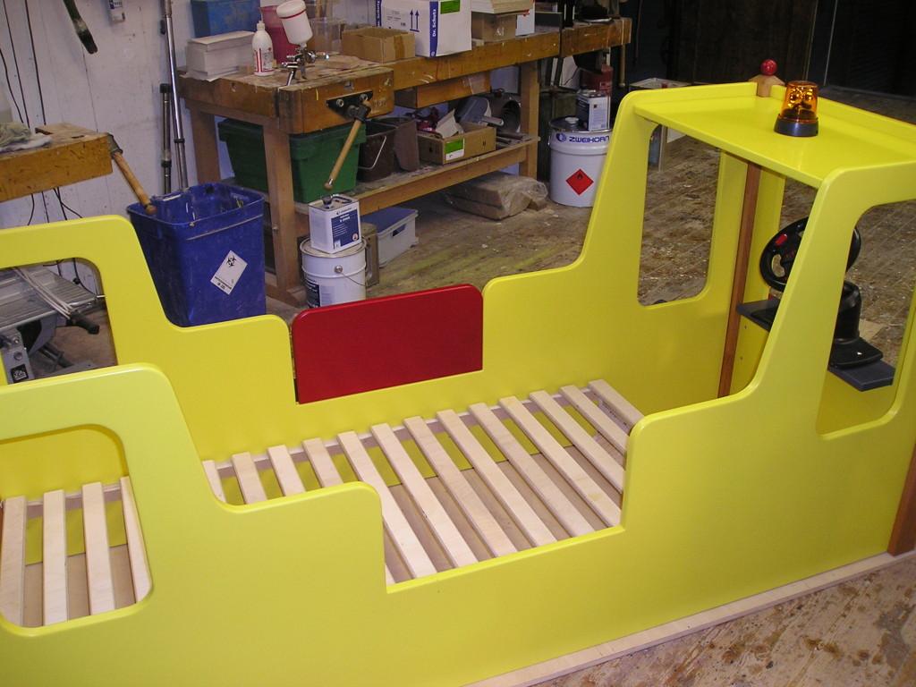 Kinderbett baggerbett  Kalles Bagger-Bett | Kunst- und Holzwerkstatt Schall